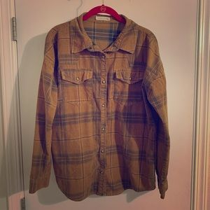 Tops - Yellow corduroy flannel